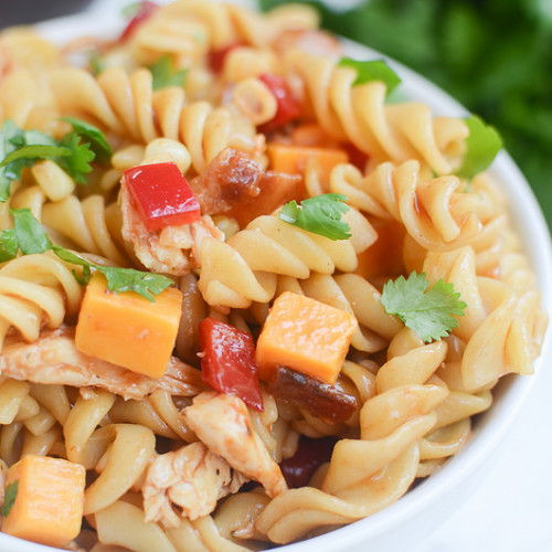 BBQ Chicken Pasta Salad – Fake Ginger