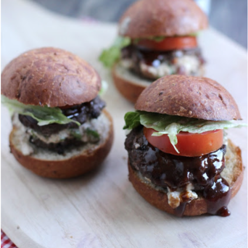 Blue Cheese & Jalapeno-Stuffed Sliders