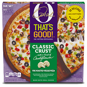 O, That's Good! Frozen Fire Roasted Veggie Pizza 23.5 oz, Carton