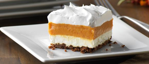 Layered Pumpkin-Gingersnap Dessert