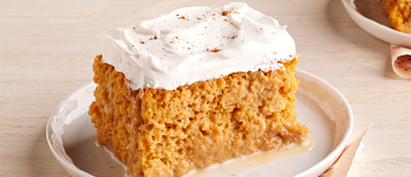 Pumpkin Spice-Tres Leches Cake
