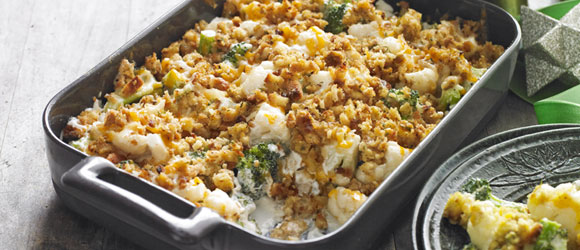 Stuffing-Topped Vegetable Bake