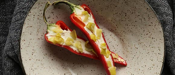 Cream Cheese and Peppers
