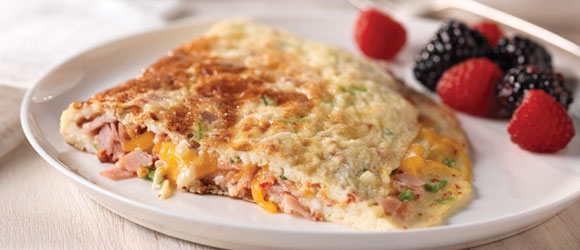 Ham, Cheese & Sun-Dried Tomato Omelet