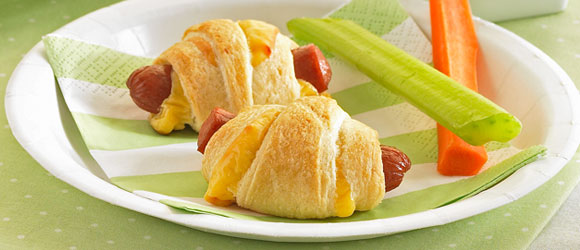 Mini Pigs in a Blanket with Cheese