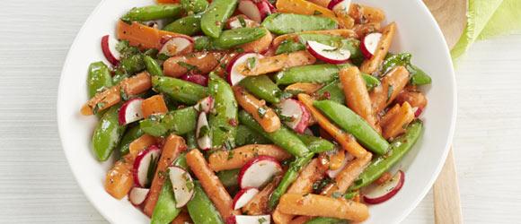 Glazed Spring Vegetables