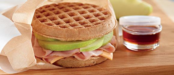 Apple-Waffle Sandwich