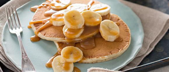 Caramel-Banana Pancakes Recipe