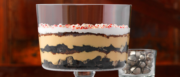 Festive Minty Mocha Trifle