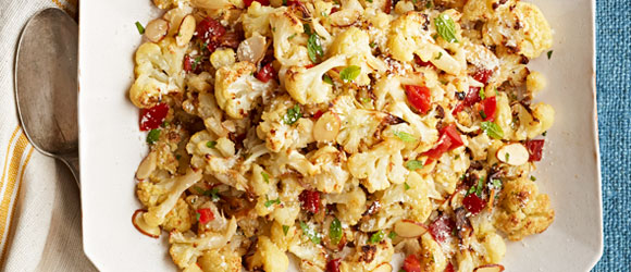 Roasted Cauliflower and Peppers