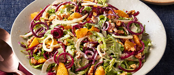Spiralized Beet and Orange Salad