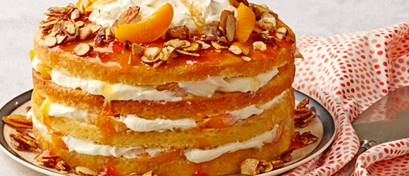 Apricot-Almond Cream Cake