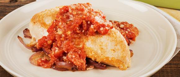 Easy Tomato Baked Boneless Chicken Breast