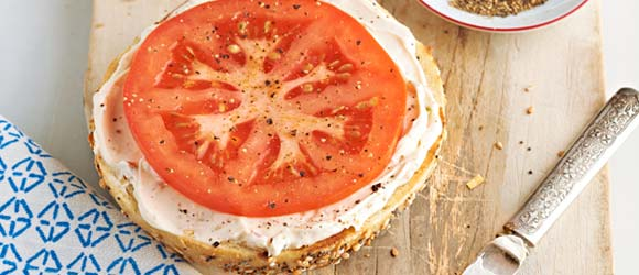Garden Vegetable Bagel with Tomato