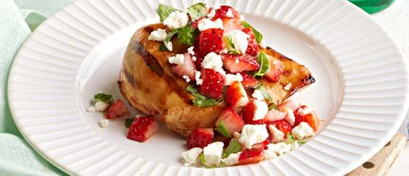 Grilled Chicken with Strawberry Salsa