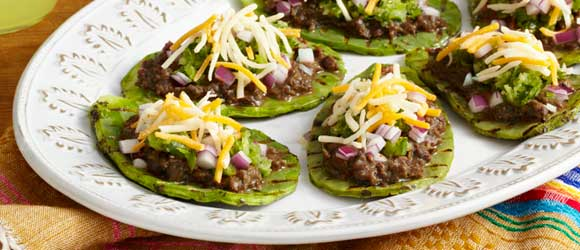 Grilled Nopales Huaraches