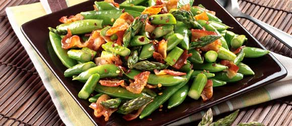Snappy Asparagus with Bacon