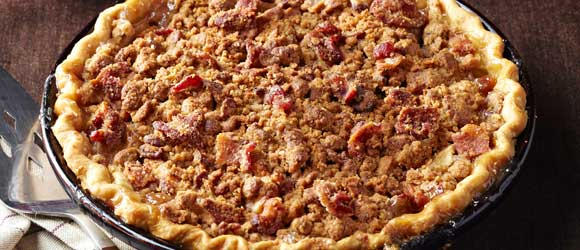 Bacon-Bourbon Apple Pie