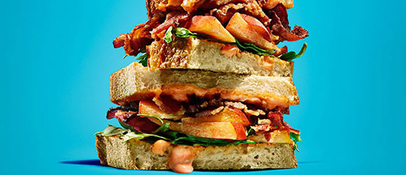 Bacon-Peach Sandwiches