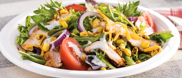 BBQ Chicken and Ranch Salad