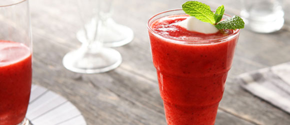 Strawberry-Coconut Water Slush