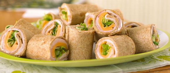 Easy Turkey Tortilla Roll Ups