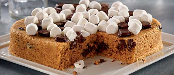 Magical Mystery Microwave S'mores Cake