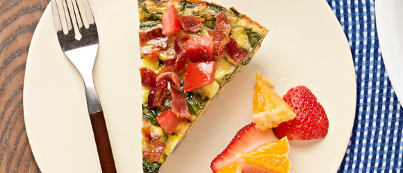 Spinach, Bacon & Feta Frittata