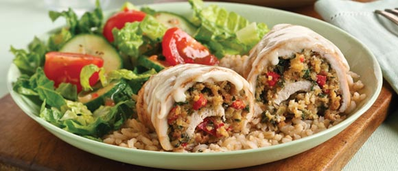 Spinach-Stuffed Chicken Breasts for Two