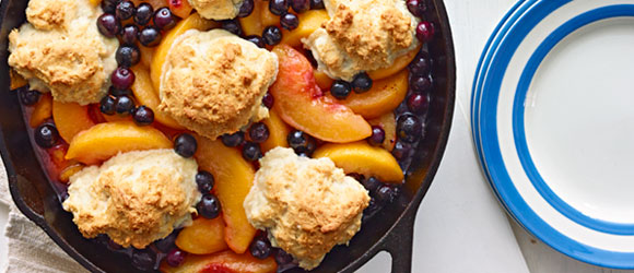 Cast-Iron Skillet Peach Cobbler