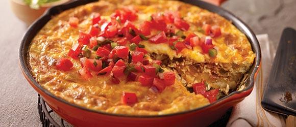 Chorizo, Potato & Green Chile Omelet
