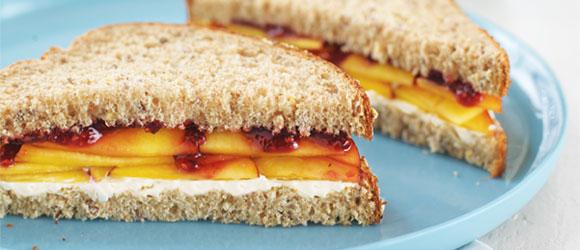 Peach Sandwiches
