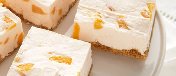PHILADELPHIA No-Bake Peach Cheesecake