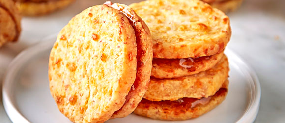 Savory Ham and Cheddar Shortbreads