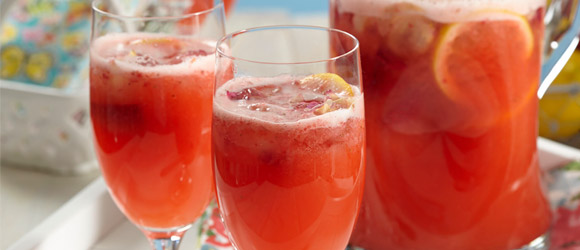 Sparkling Strawberry-Elderflower Lemonade