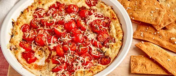 Warm Tomato-Mozzarella Dip