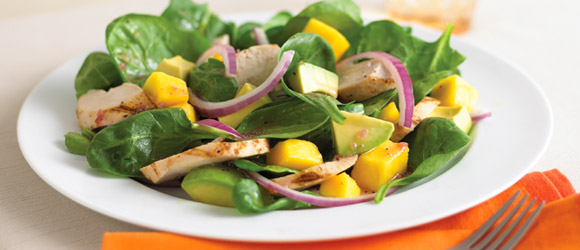 Chicken Spinach Mango Salad