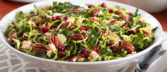 Pomegranate, Pecan and Kale Salad