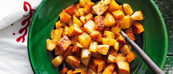 Roasted Sweet Potatoes & Pineapple