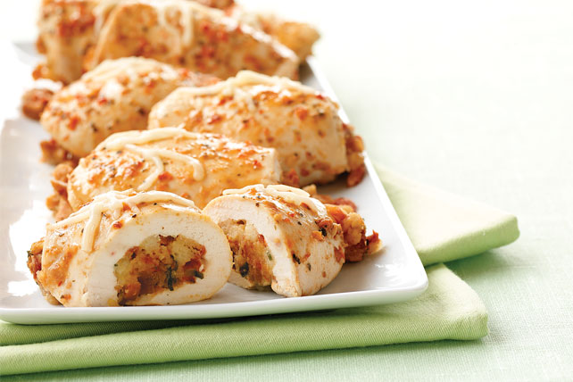 Bruschetta 'n Cheese-Stuffed Chicken Breasts