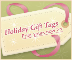 Holiday Gift Tags - Print yours now!