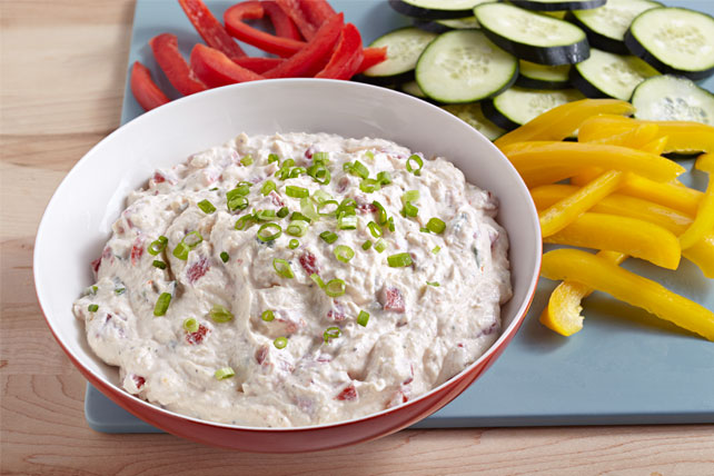 Roasted Red Pepper Green Onion Dip