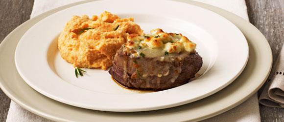 Cheese-Crusted Beef Tenderloin Steaks