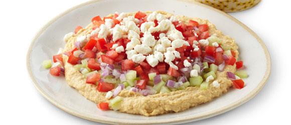 Chunky Vegetable Hummus Spread