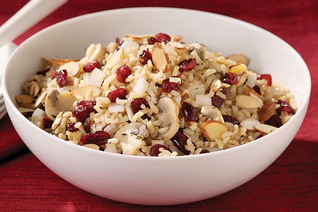 Mushroom Almond Cranberry Rice Pilaf