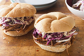 BBQ Beef Brisket Sandwiches with Coleslaw