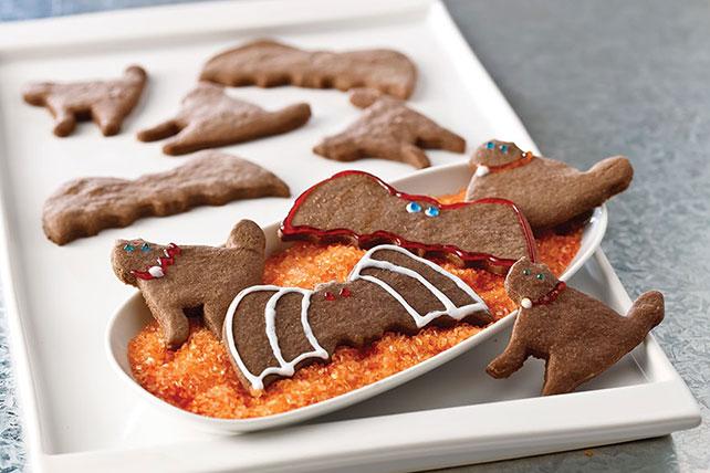 Bats & Cats Chocolate Halloween Cookies