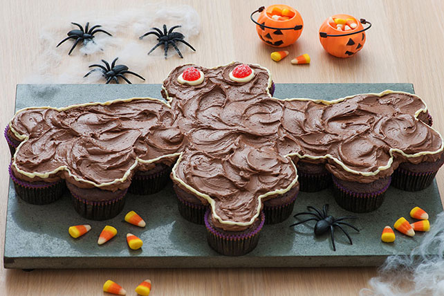 Bat-Shaped Chocolate Cupcake Cake
