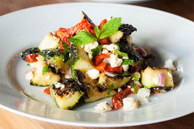 Roasted Zucchini Salad