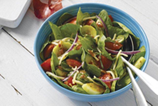 Spinach, Tomato & Basil Salad
